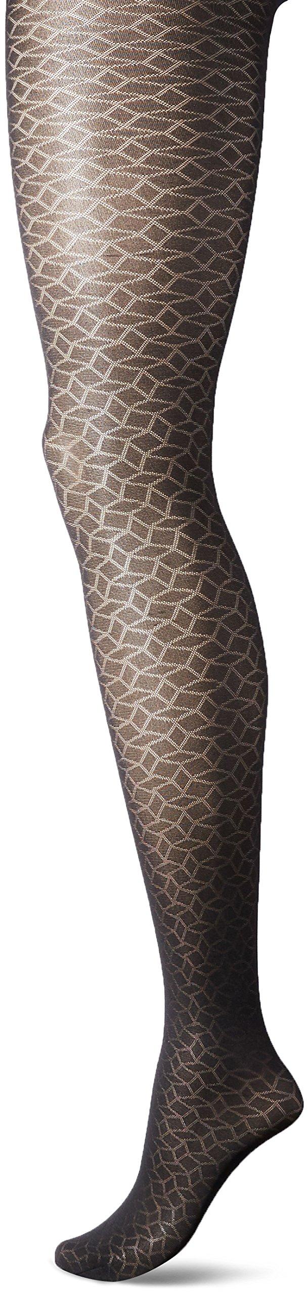 Yummie Women's Tights, Semi-Sheer Texture - Black, Large