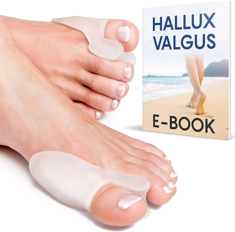 YogaMedic Hallux Valgus Corrector de Juanetes Transparente [6x] - Separador silicon de dedos - 0% BPA - Talla universal