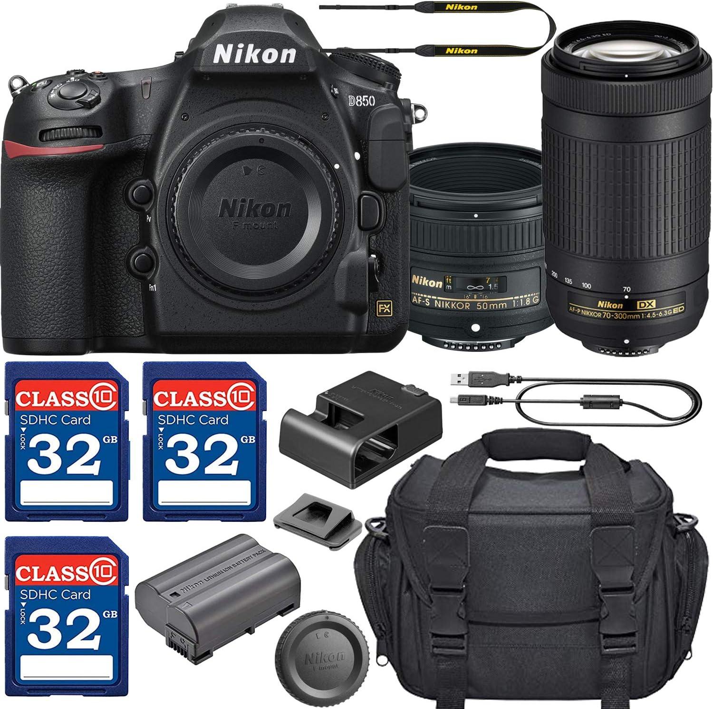 Nikon D850 Cámara DSLR con Lente AF-S NIKKOR de 50 mm f/1,8 G y ...