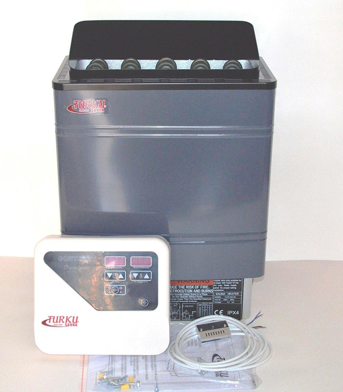 amazon com tu90wd od residential 9kw wet dry 240v turku sauna