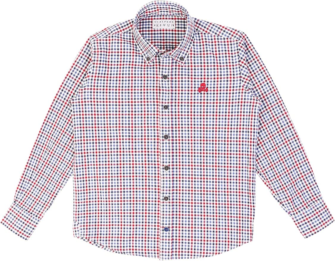 Scalpers Camisa Cuadros Vichy - Blue / 4: Amazon.es: Ropa y accesorios