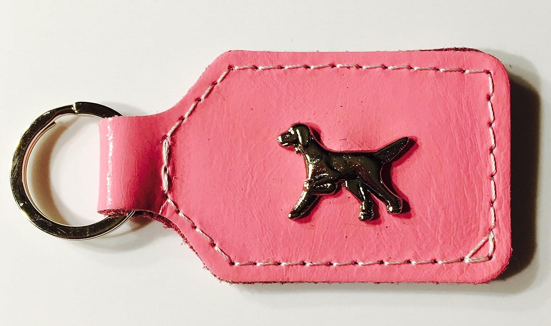 en 10/couleurs Happy Hugo Cadre Porte-cl/és en cuir v/éritable Setter Beagle