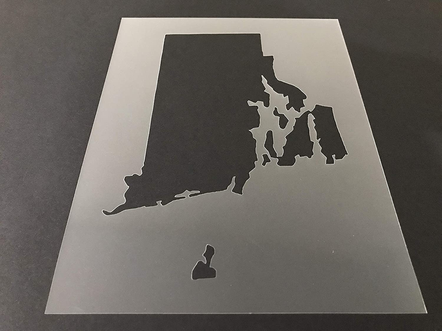 Rhode Island #1 Stencil Reusable 10 mil Thick 8in x 10.5in sheet