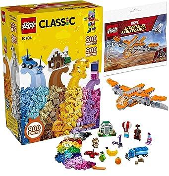 6d61359a5e17 LEGO Super Ship Avengers Guardians Brick Set Bundled with + Bundled with Classic  Creative Building Mega