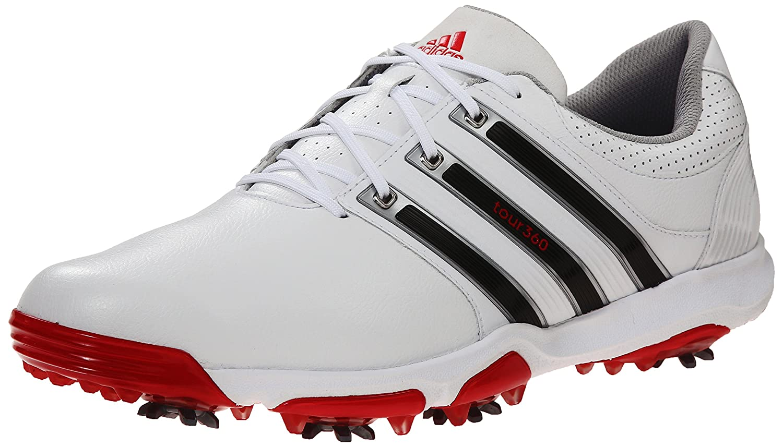 adidas Men's Tour360 X Golf Shoes B00NYB0TYY 10 D - Medium|White/Core Black/Red