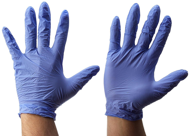 Guantes desechables de nitrilo Gripster Skins by Gocableties Gocableties Small//Size 7 50 unidades sin polvo 25 pares Naranja de alta calidad PPE Cat 3