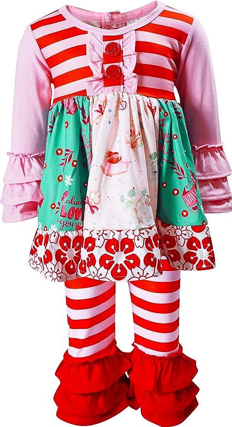 Valentines Day Dress LOVE Pattern Girls Cute