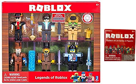 Roblox Character Toy Codes Amazon Com Legend Of Roblox Toy Set Includes Legends Of Roblox Set Roblox Series 2 Mystery Box Blind Bag Figure Toys Games