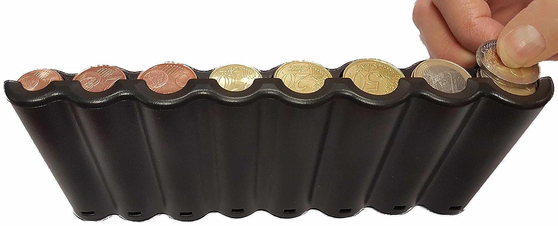 CLAIRE-FONCET Monedero con dispensador de monedas de 8 piezas de Euro, Monedero cintura, ideal para Camarero, Camarera, Taxis, Autobúses, vendedores ...