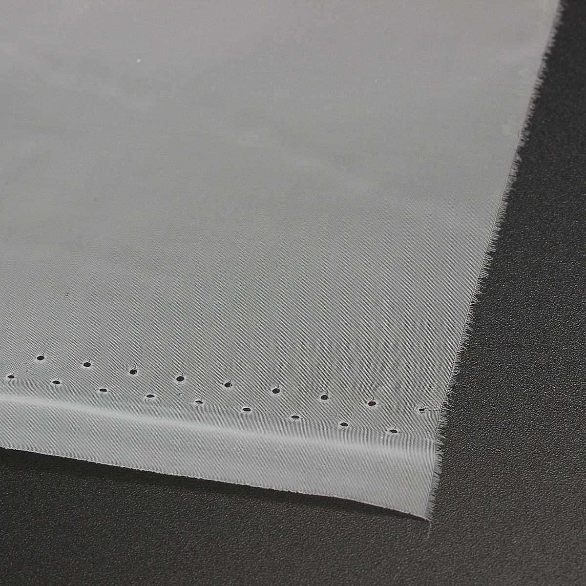 G/én/érique Tissu en Maille Extensible pour s/érigraphie Blanc 180 Mailles 72T