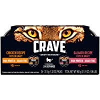 Crave Grain Free High Protein Wet Cat Food Trays, 24 Pack