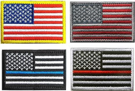 Bandera de Estados Unidos parche de Velcro, Towee 6 Pack American bandera Estados Unidos banderas etiquetas