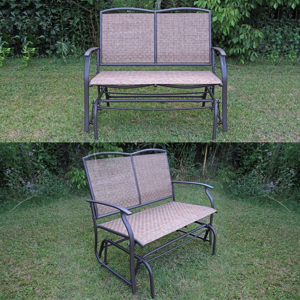 Amazon.com: SLN Loveseat mecedora silla de jardín, Columpio ...