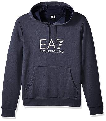 cbfb18da368 EA7 Emporio Armani Active Men s Train Visibility Melange Hoodie Sweatshirt