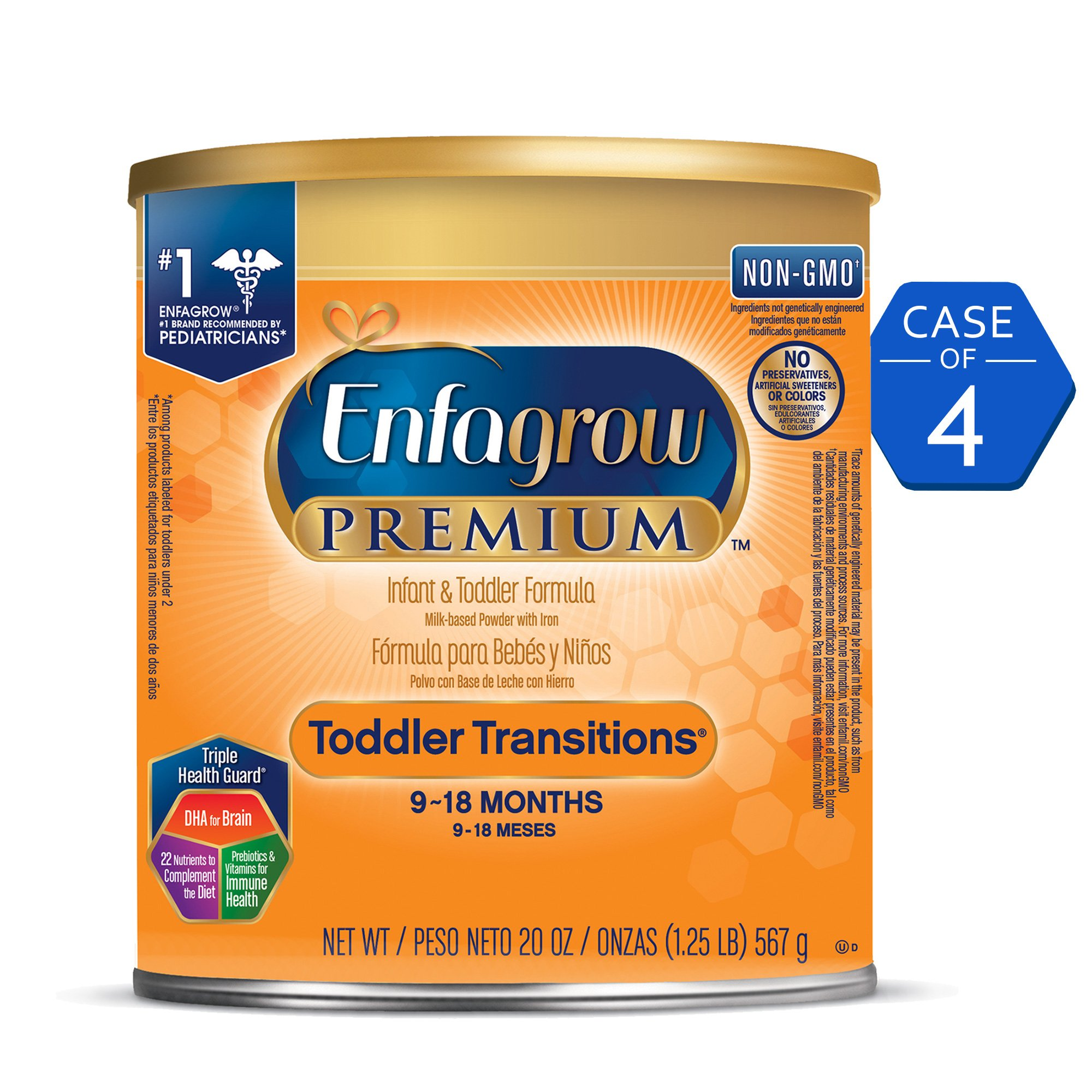 Enfagrow PREMIUM Non-GMO Toddler Transitions Formula - Powder can, 20 oz by Enfagrow Transitions