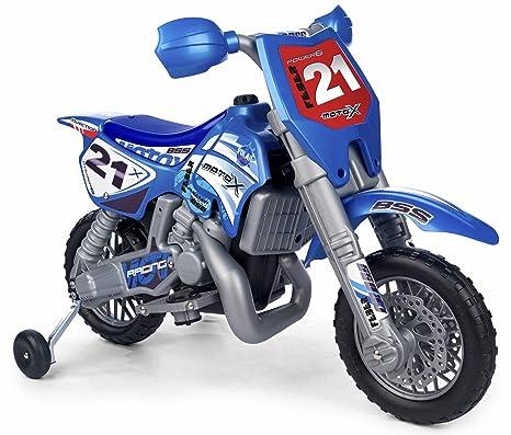 FEBER Cross X Moto con Motor y batería de 6 v y Casco Color Negro, Azul