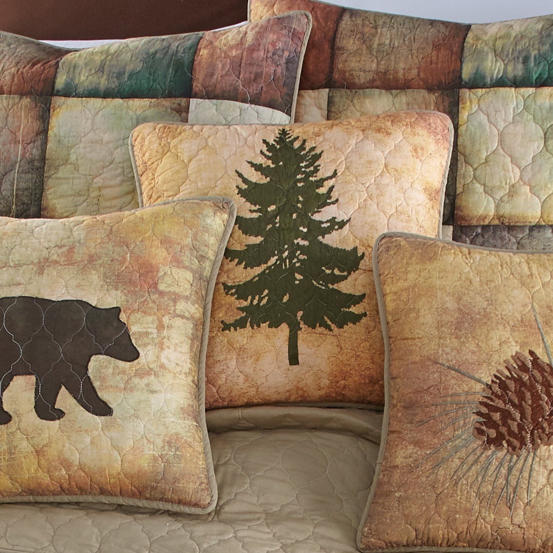 Donna Sharp Dec Pillow, Wood Patch (tree)
