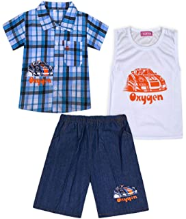 JollyRascals Boys Summer Set Sleeveless T-Shirt Top and Camo Shorts Kids New Plane Army Outfit Set 2 Piece Camouflage Black Blue Grey White Khaki Age 2 3 4 5 6 7 8 9 10 Years