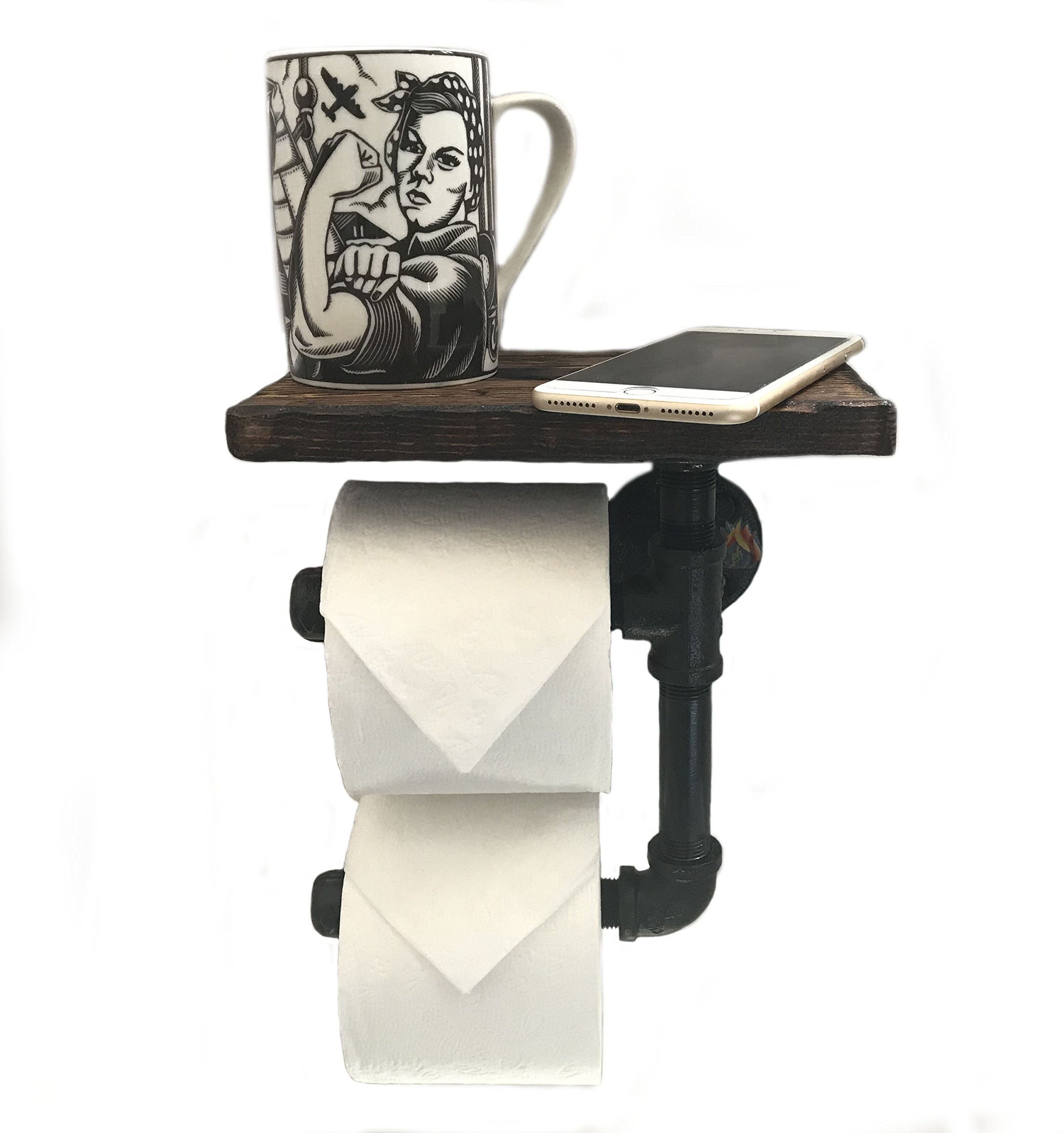 PH Toilet Paper Holder Shelf for Mobile Phone Storage in Bathroom with 5 Color Options