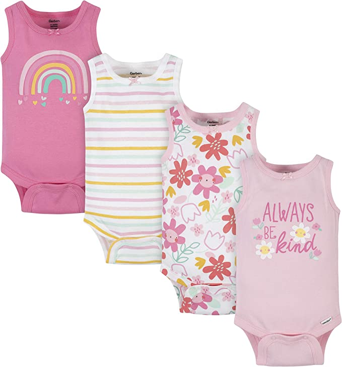 Baby Shower Mommy Loves Me 6-9 or 12 Months 4 New Gerber Girl/'s Onesies