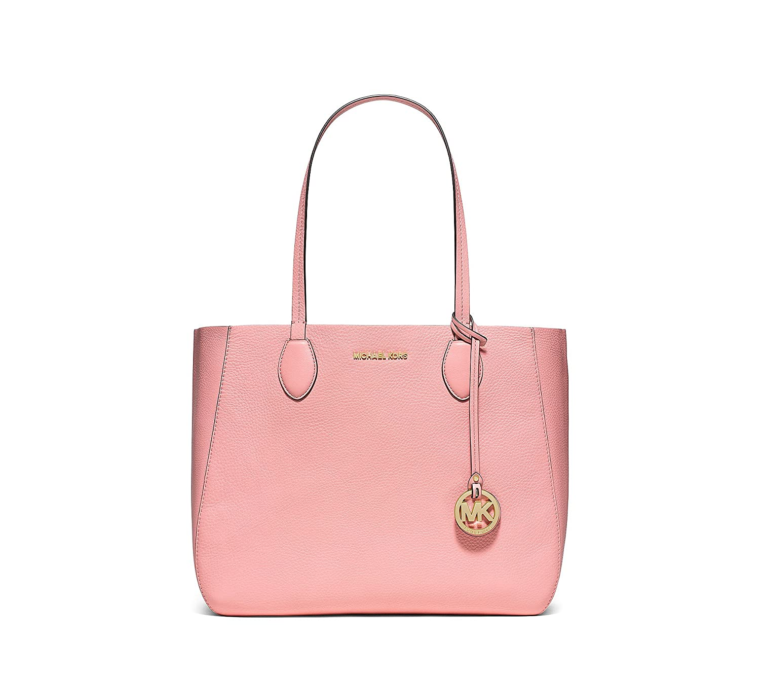 ab616eea5fc8 Amazon.com: MICHAEL KORS Mae Large Leather Tote in Pink Coral Reef: Shoes
