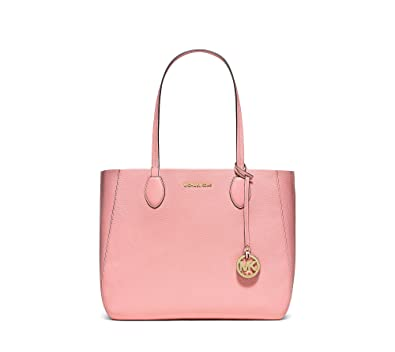 116ef2abaa Amazon.com  MICHAEL KORS Mae Large Leather Tote in Pink Coral Reef  Shoes