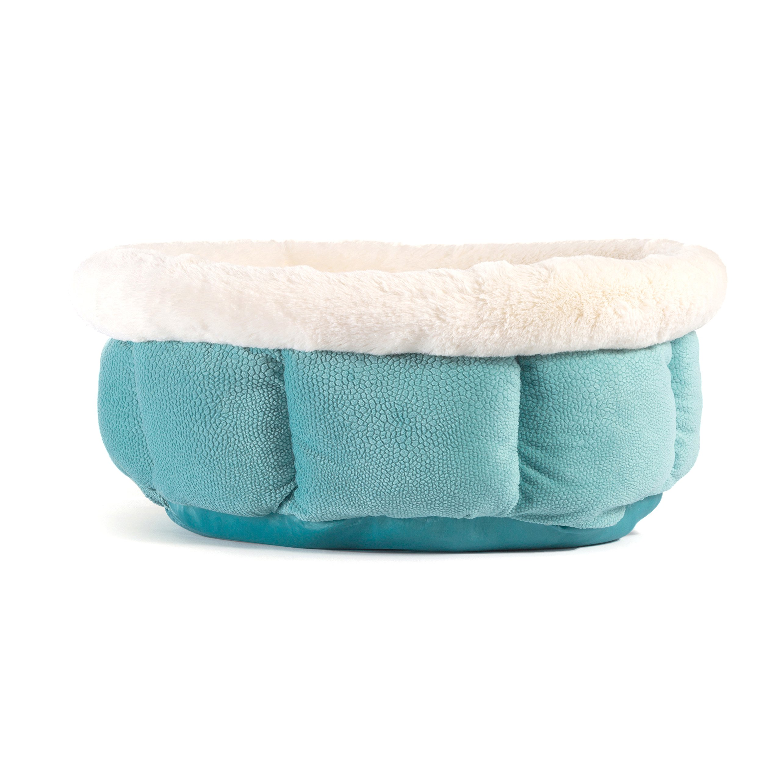 Best Friends by Sheri Small Cuddle Cup - Cozy, Comfortable Cat and Dog House Bed - High-Walls for Improved Sleep, TidePool by Best Friends by Sheri (Image #2)