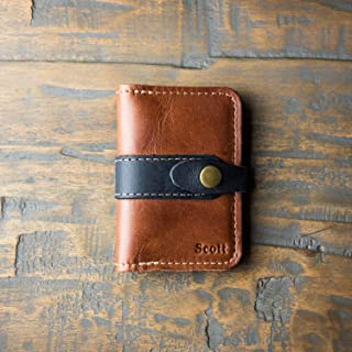 product image for The Doolittle Fine Leather Snap Closure Wallet BiFold in Brown