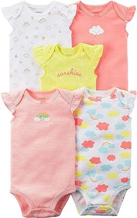 844833250 Amazon.com  Carter s Baby Girls  5 Pack Flutter Sleeve Rainbow ...