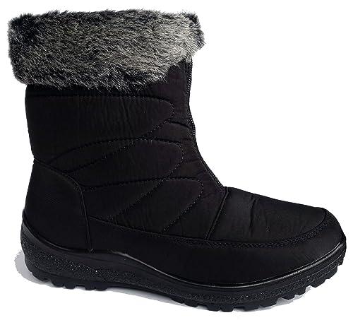 2cd312a2cd754 Cushion Walk Womens Comfort Fit Winter Boots in Black - Clarissa ...