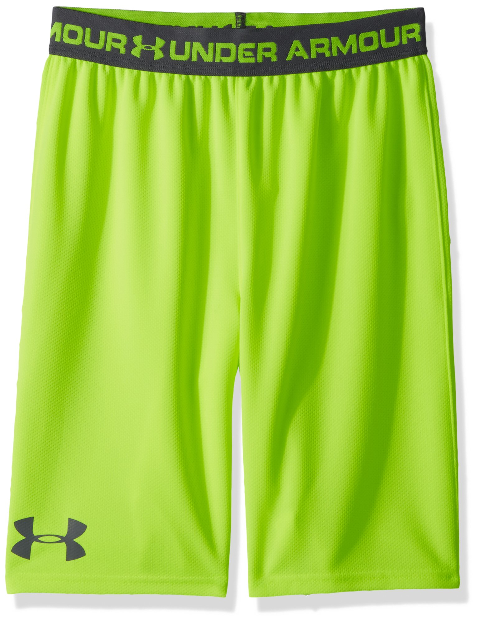 Under Armour Boys' Tech Prototype 2.0 Shorts, High-Vis Yellow (731)/Graphite, Youth Medium