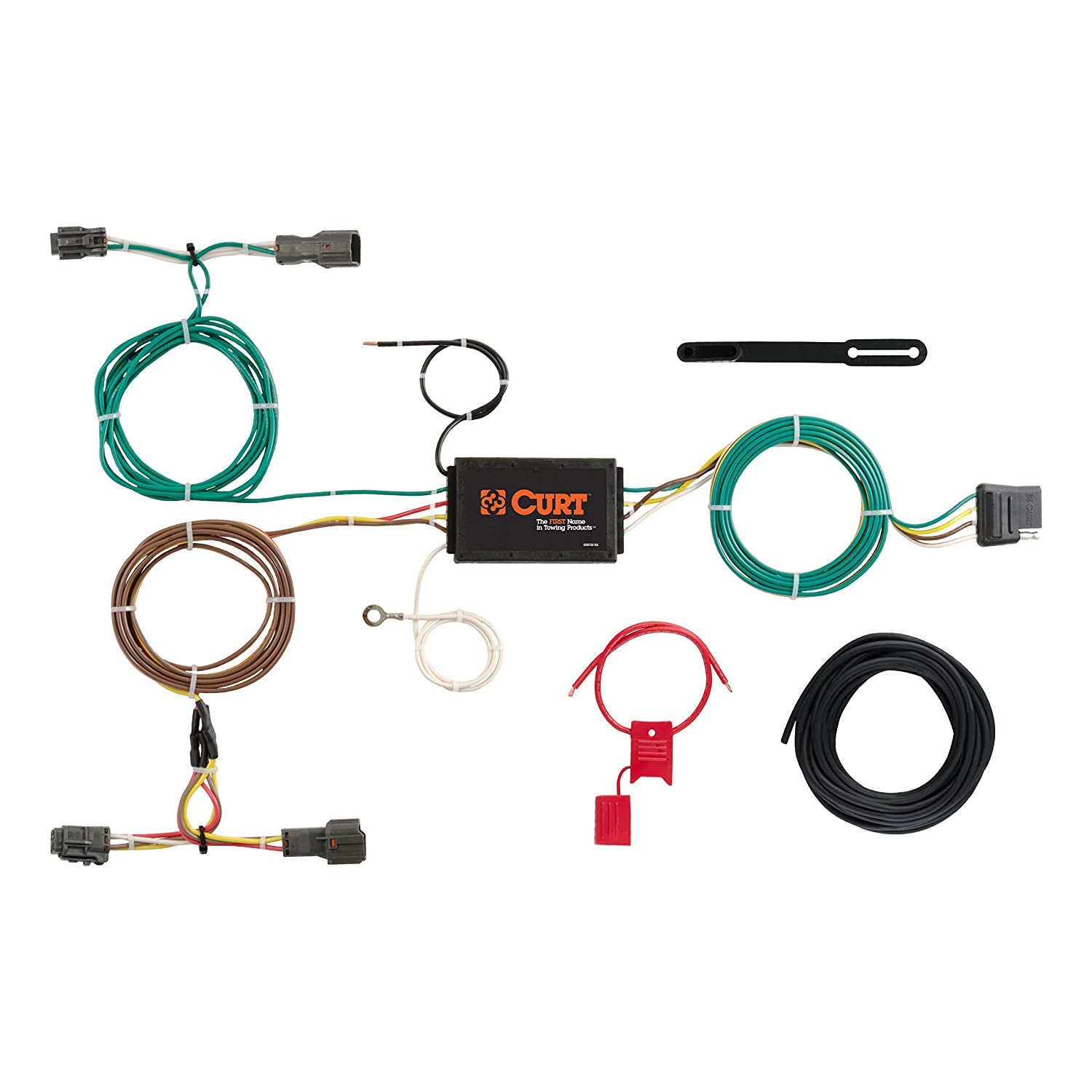 CURT 56256 Vehicle-Side Custom 4-Pin Trailer Wiring Harness for Select on