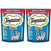 Whiskas Temptations Mega Pack Salmon Flavor Cat Treats, 180g (Pack of 2)