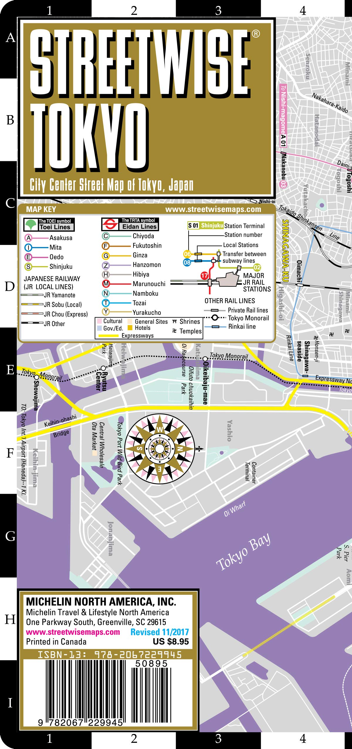 Download Streetwise Tokyo Map - Laminated City Center Street Map of Tokyo, Japan (Michelin Streetwise Maps) PDF