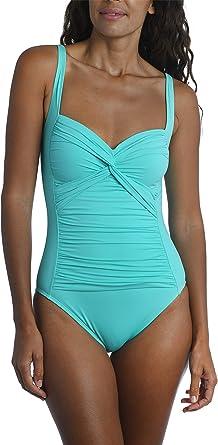Dress Like a Goddess Turquoise Paisley Print Cut Out Sides Ladies Monokini Swimming Costume