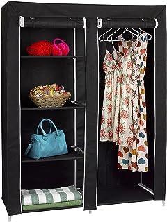 FloridaBrands Portable Closet Wardrobe - 62  Clothes Closet Storage Organizer and Non-Woven Fabric & Amazon.com: Ziz Home Hanging Closet Organizer   5 Shelf Beige ...