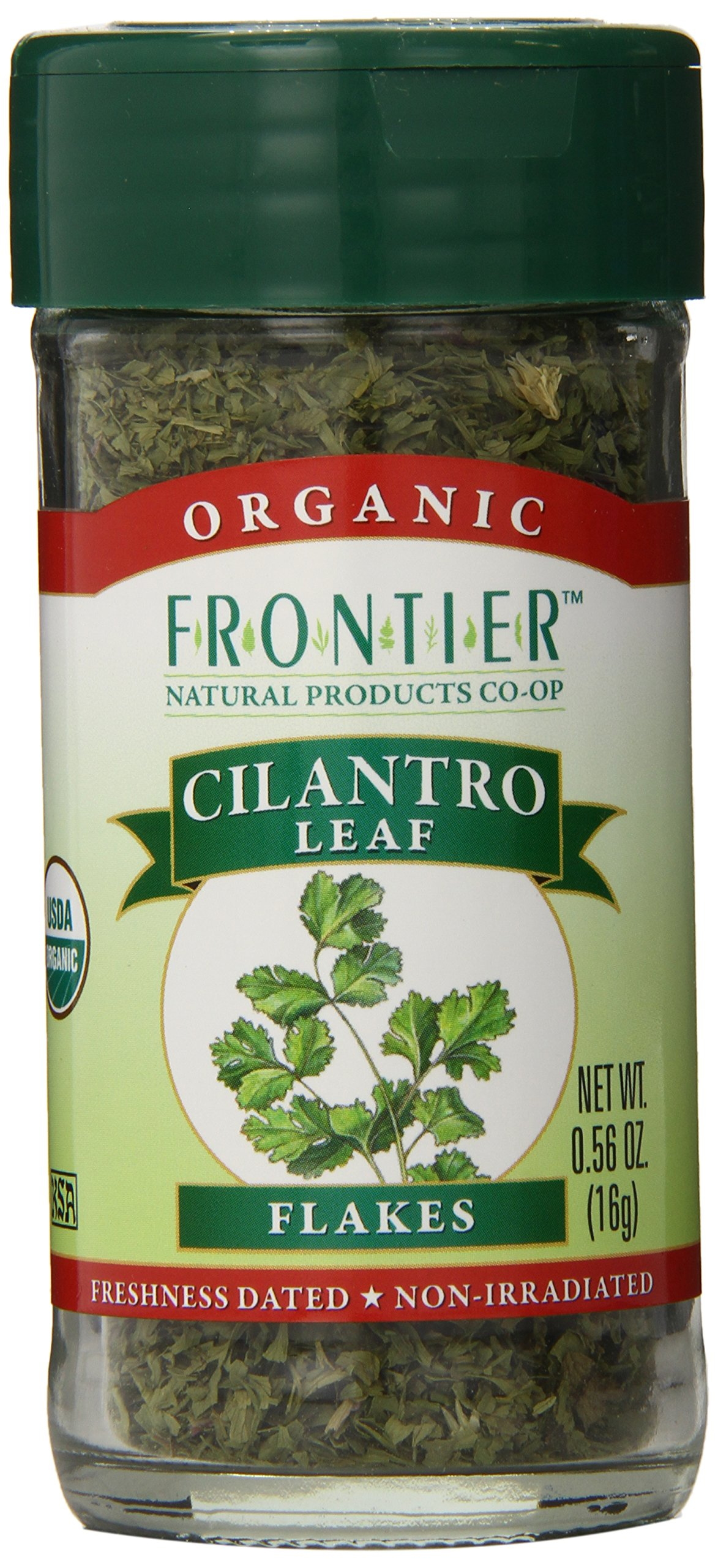 Frontier Organic Cilantro Leaf Flakes, 0.56-Ounce Container (Pack of 6)