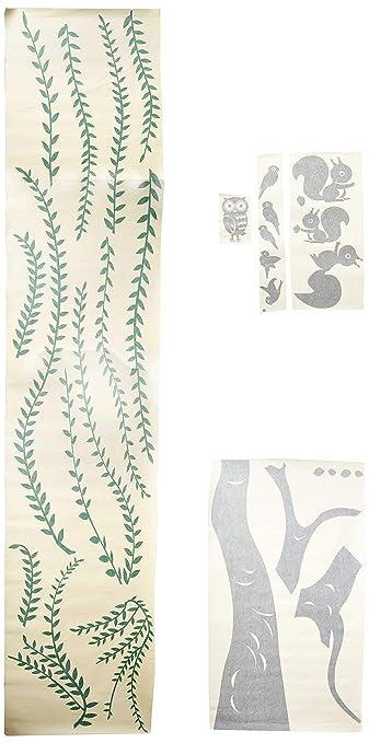 Big Willow and Squirrel Pop Decors PT-0069-Va Beautiful Wall Decal 71 71