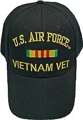 df805045fcc Buy Caps and Hats AIR FORCE VIETNAM BASEBALL CAP Black Veteran Hat Mens Vet