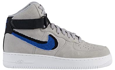 the best attitude 9dc47 a569c Image Unavailable. Image not available for. Color  Nike Air Force 1 High  07  LV8 Wolf Grey Game Royal-Black (