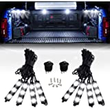 Nilight 8PCS 24LED Rock Light for Cargo Truck Pickup Bed Off Road Under Car Side Marker LED Rock Lighting Kit w/Switch…