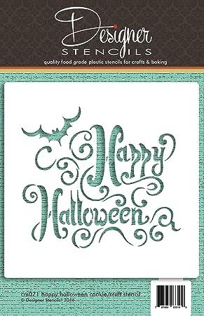 Happy Halloween letras para galletas y Craft plantilla para estarcir ...