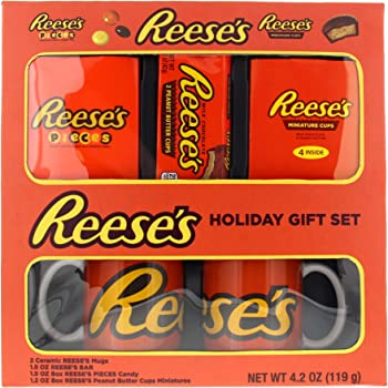 Galerie Hershey Reese's Lovers Holiday Gift Set, 2 Mugs with Chocolate