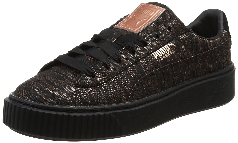 Puma Basket Platform VR, Zapatillas para Mujer 39 EU|Negro (Black-black)