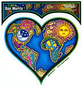 amazon dan morris mother earth large heart sticker decal 5