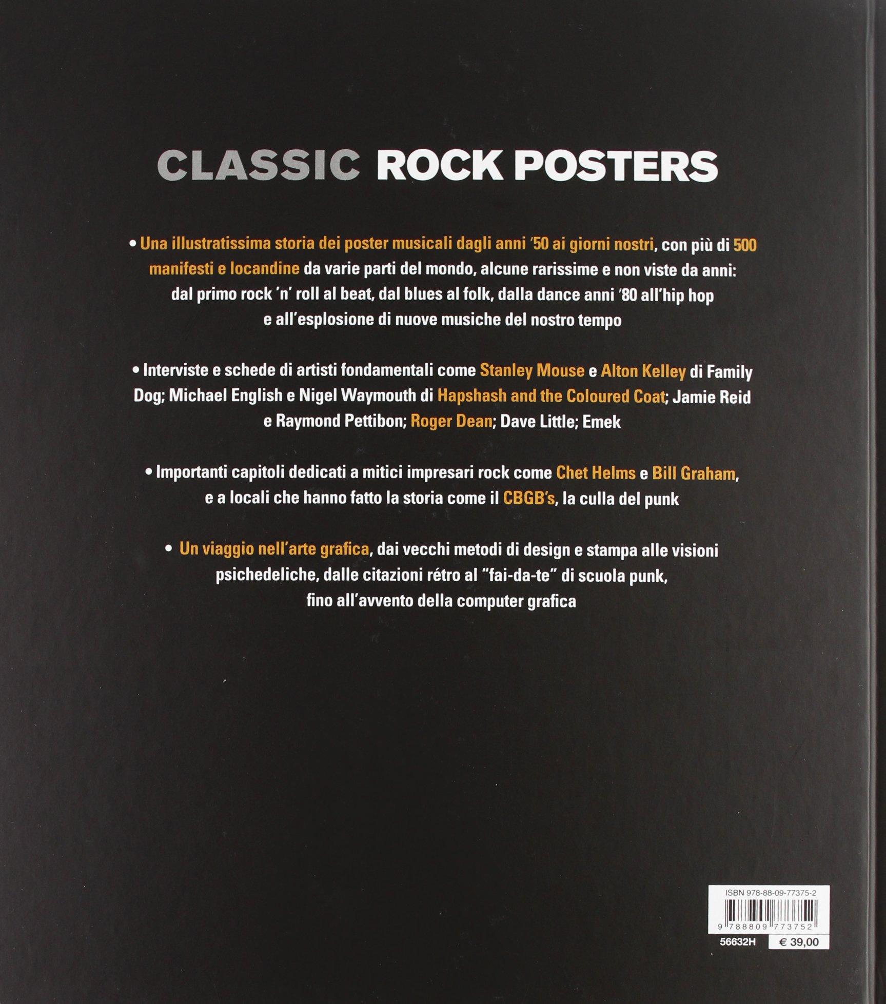 Classic Rock Posters 60 Anni Di Manifesti Locandine E Arte