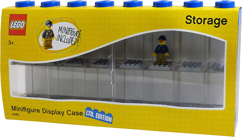 LEGO Minifigure Display Case Large - Blue Special Edition Bonus Minifigure