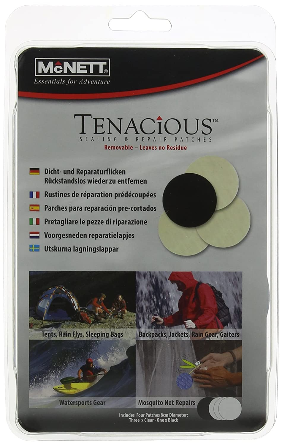 Mcnett Tenacious Sealing and Repair Patches (Pack of 4) MN16