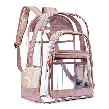 5e97b7b7872e LOKASS Clear Backpack Transparent Multi-Pockets Backpacks Outdoor Backpack  Fit 15.6 inch Laptop Safety
