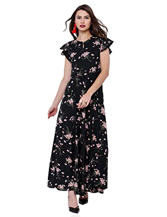 9e78ae5d4 Tokyo Talkies Casual Black Dress  Amazon.in  Clothing   Accessories